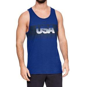 UA Blue USA Tank Men's Under Armour America NEW